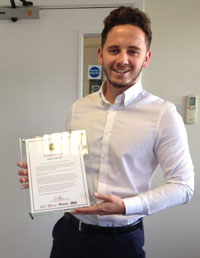 Josh Caines - Customer Account Executive - Ipswich - For being the highest performer in the Ipswich Commercial Team, showing determination to exceed his targets and has taken on additional work and duties.